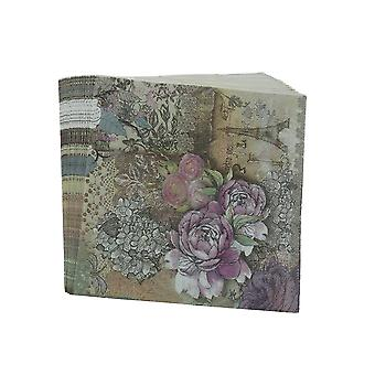 Eiffel Design Tower Paper Napkins, Rose Festive Party Tissue