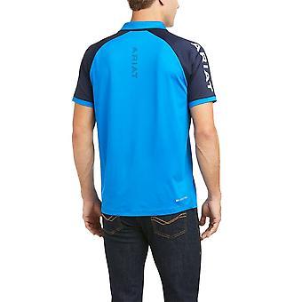 Ariat Team 3.0 Mens Short Sleeved Polo Shirt - Imperial Blue