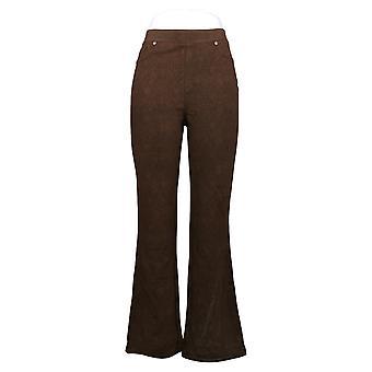 DG2 af Diane Gilman Women's Pants Stretch Ponte Boot-Cut Brown 718825