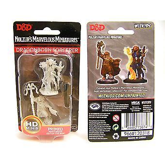 Female Dragonborn Sorcerer D&D Nolzur's Marvelous Unpainted Miniatures W8 6Units