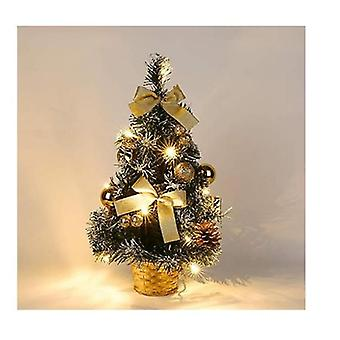 Artificial Mini Christmas Tree Tabletop Christmas Tree With Led Light And Pine Cones