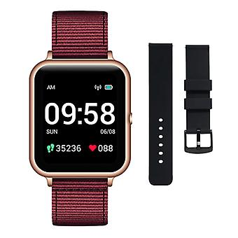 Lenovo S2 Smartwatch with Extra Strap - Fitness Sport Activity Tracker Silica Gel Watch Android Red