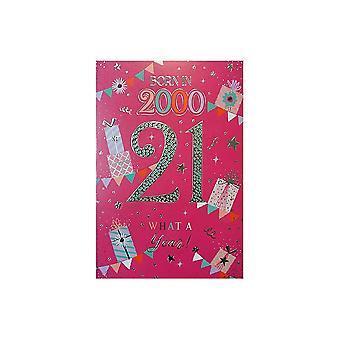 ICG Ltd 2021 Female 21 Year You Were Born Birthday Card