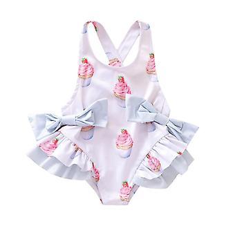 Baby Fashion Ruffles traje de baño de una sola pieza