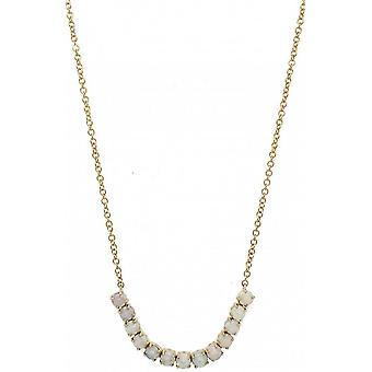 Mark Milton Opal Birthstone Halsband - Vit/Guld
