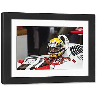 1988 German GP. Large Framed Photo. HOCKENHEIMRING, GERMANY - JULY 24: Ayrton Senna, McLaren MP4-4.