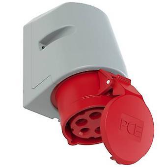 PCE 115-6tt CEE vägguttag 16 A 5-stifts 400 V 1 st