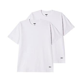 Men's t-shirt obey standard organic tee ss 2 pack 131080300.wht