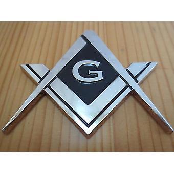 Kompass und quadratisches g Auto Emblem