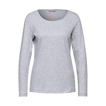 Street One 315806 T-Shirt, Sky Grey Melange, 42 Woman