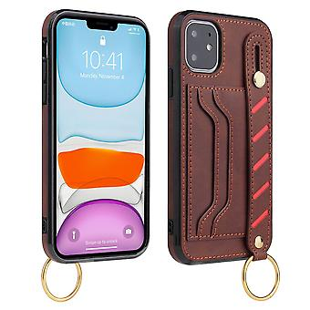 Leather wallet case for samsung note 20 ultra brown pns-2131