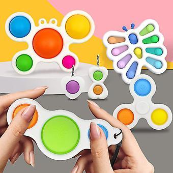 Aisti fidget lelut asettaa kupla pop stressiä helpotus lapsille aikuiset Z262