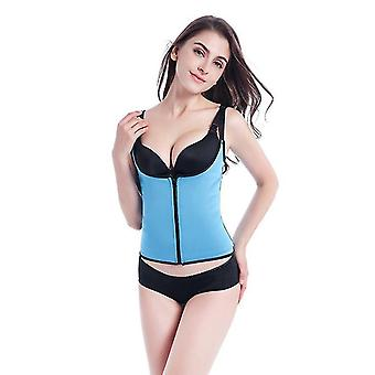 Cintura 82cm azul feminino espartilho de cintura corpo modelador de barriga queimador de gordura x2157
