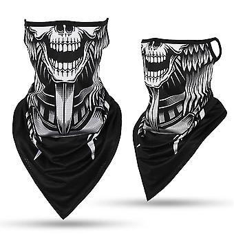 Ice Silk Ski Mask Sjaal Driehoek Schedel Bandana Half Gezicht Sjaals, Tube Neck