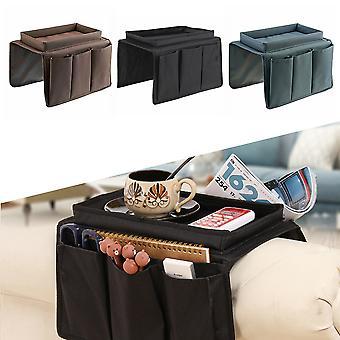 Sofa armleuning organisator met 4 zakken en beker houder lade bank fauteuil opknoping opbergtas voor tv-afstandsbediening mobiele telefoon
