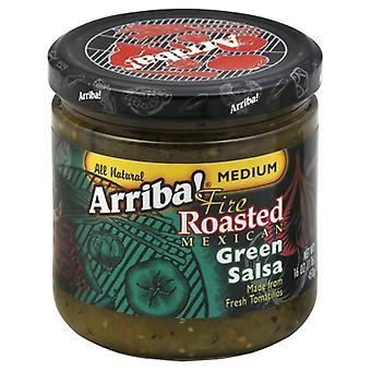 Arriba Salsa Grn Medm, Case of 6 X 16 Oz