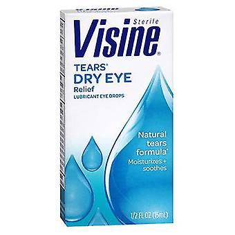 Visine Visine Tears Dry Eye Relief Drops, 0.5 oz