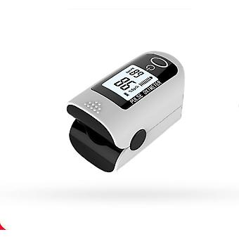 Fingertip Pulse Oximeter Blood Oxygen Saturation Monitor With Silicon Cover And Batteries