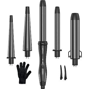 Professional Curling Iron 5-in-1 Hair Tools Instant Heating Electric Curling Iron Hot Air Brush Ceramic Barrels For Woman