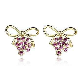 Ear Studs Purple Grape S925 Pin Earrings Eardrops For Party