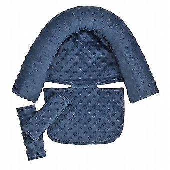 Baby Stroller Safety Soft Sleeping Head Support Pillow With Matching Seat Belt(Blue)