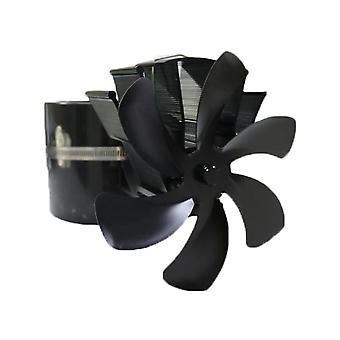 Black Fireplace Blade Heat Powered Stove Fan
