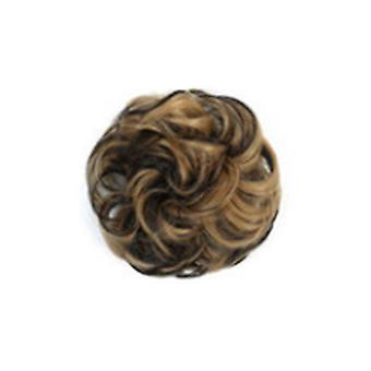 3 Pcs Curly Hair Chignon Heat Resistant Synthetic Elastic Hair Bands Lady Hair Bun for Brides/Party