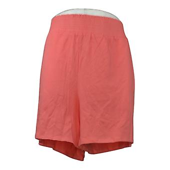 AnyBody Kvinders Shorts Hyggelig Strik Pull On Pink A354751