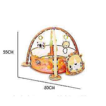 3-в-1 Детская фитнес-рамка, многофункциональный детский коврик для ползания, сенсорное исследование и моторные навыки