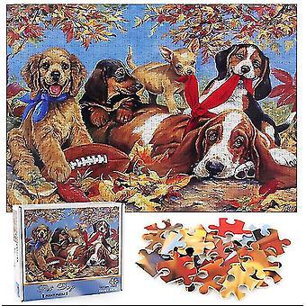 Pet Dog Jigsaw Puzzle ,1000 pcs Educational decompression puzzle,wall decoration