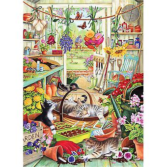Otter House Allotment Kittens Jigsaw Puzzle (1000 Pieces)