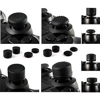 GNG 8 x en caoutchouc souple de pouce poignées noir joystick Joystick améliorations extra-haute casquettes housse pour Sony Play Station 4 PS4 PS3 Xbox 360 XBOX 1