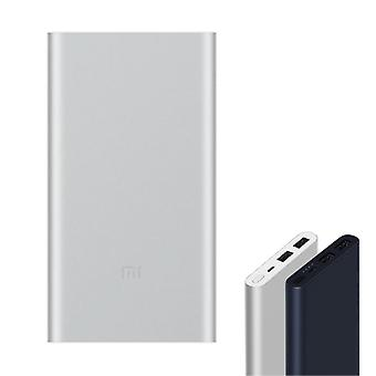 Xiaomi Mi Powerbank 2 - 10,000mAh with 2 Charging Ports - LED Battery Status External Emergency Battery Charger Charger Silver