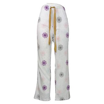Maidenform Women's Novelty Printed Fleece Pajama Pants White 631063