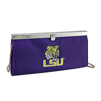 Haftowane LSU Tigers tkaniny sprzęgła portfel w/łańcuch pasek