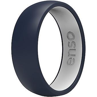 Enso Rings Dualtone Series Silicone Ring - Navy Blue/White
