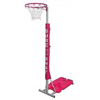 Varma laukaus netball easiplay verkkopallo yksikkö vaaleanpunainen pehmuste