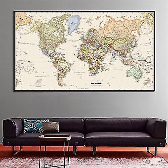 Koulutus maailman fyysinen kartta hd canvas maalaus kouluun