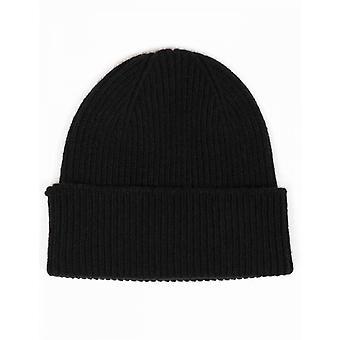 Colorful Standard Merino Wool Beanie Hat - Deep Black