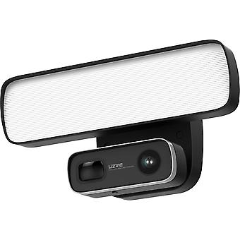 Floodlight IP camera for outdoor use, 1080p, LED headlights, black