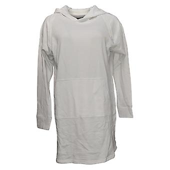 """Brittany Humble Women's """"ComfyxCozy"""" Tunic Hoodie White 739276"""