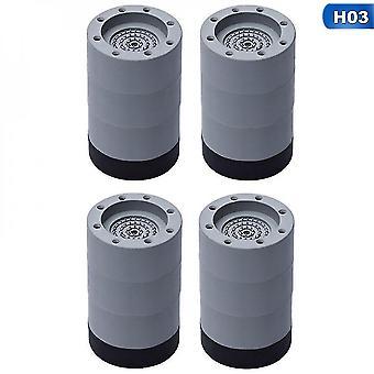 Meubles protecteurs de sol 4pcs anti vibration pieds pads machine à laver tapis en caoutchouc anti-vibration pad sèche-linge universel fixe