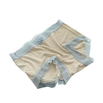 Colorblock Lace Trim Cotton Crotch Panties Two-piece