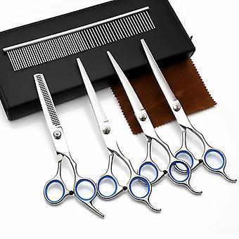 Pet Grooming Nůžky Sada 7 Jemné rovnání nůžky, Reverzní hubnutí zubní nůžky sada