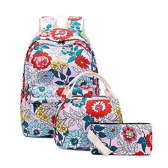 3 In 1 School Flower Backpacks For Girls