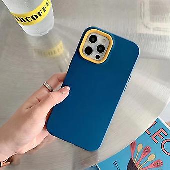 Three In One Liquid Phone Case,simple Contrastdark Blue Iphone12