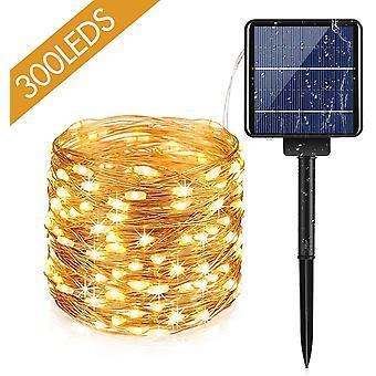 100 Leds Extérieur Solar String Lights Avec 8 Modes de Lumière, Imperméable Solaire String Light Pour