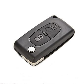 2 Buttons Plastic Remote Flip Key Shell Replacement For Peugeot 207 307 308 Uncut