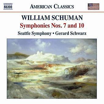 W. Schuman - William Schuman: Symphonies Nos. 7 & 10 [CD] USA import