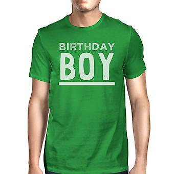 عيد ميلاد الصبي الأخضر رجالي جولة الرقبة قميص هدية فريدة من نوعها تي له